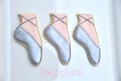 Ballet shoe cookies