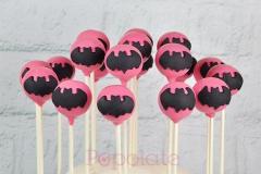 Pink Batgirl cake pops