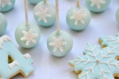 Frozen cake pops and cookies