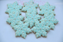 Icy blue snowflake cookies