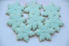 Icy blue snowflake cookies
