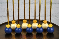 Navy blue regal gold crown cake pops
