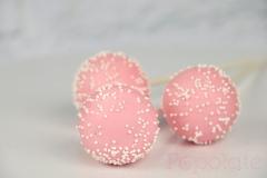 Pale pink cake pop