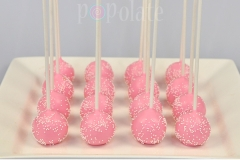 Pink and white cocktail cake pops