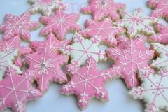 Pink snowflake cookies