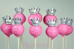 Princess silver tiara cake pops