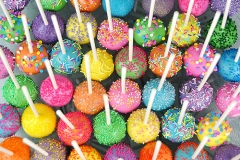 Multicolour cake pops
