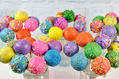 Colourful sprinkle cake pops