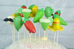 Mexican fiesta cake pops