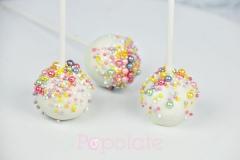 Rainbow pearl cake pops