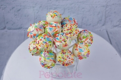 Rainbow sprinkles cake pop
