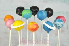 Galaxy planet cake pops