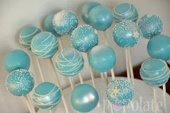 Frozen blue cake pops