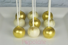Gold brushed cake pops