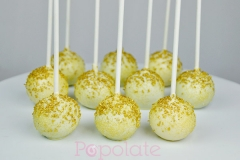 Gold sugar cake pops