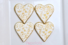 Heart gold pattern cookies