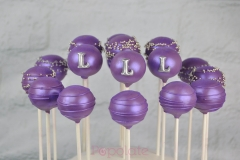 Purple rain cake pops