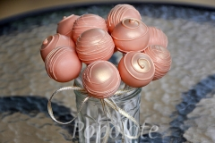 Peach gold cake pops