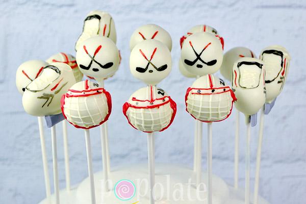 Hockey Cake Pops