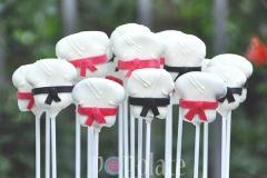 Karate cake pops