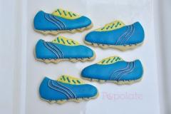 Soccer boot cookies