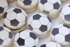 Soccer macarons