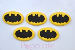 Batman logo cookies
