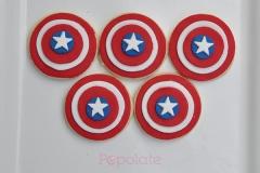 Captain America fondant cookies