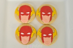 Flash superhero cookies