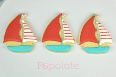 Sail boat iced biscuit