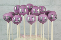 13th birthday cake pops