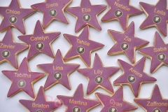 Holllywood star cookies personalised