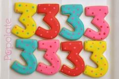 Number 3 cookies