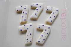 Number 7 cookie