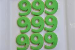 Number 9 cookies