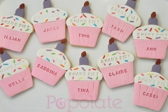 Personalised birthday placecard cookies