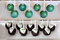 Bridesmaid and groomsmen cake pops