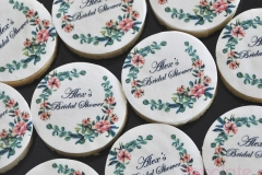 Floral bridal shower cookies