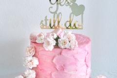 Anniversary cake, rustic