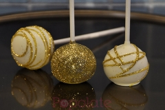 Glitter and sparkle cake pops