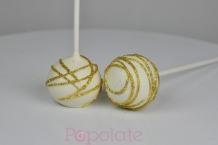 Glitter swirls cake pops