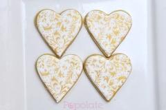 Heart gold pattern cookies