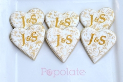 Wedding cookies with initials
