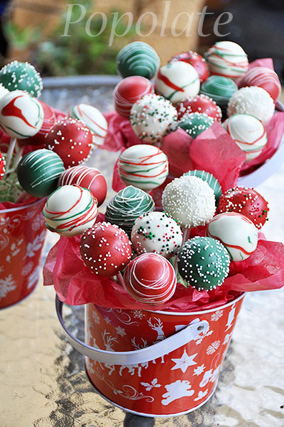 Christmas cake pop gift popolate for Christmas cake gift
