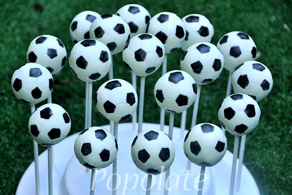 How To Make A Soccer Ball Cake Pop