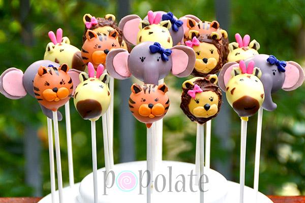 Sweet Jungle Animals Cake Pops Popolate