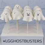 Halloween ghost cake pops corporate