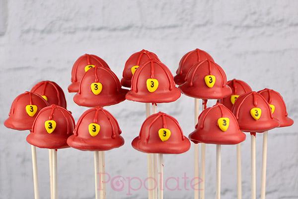 Fireman Hat Cake Pop Popolate