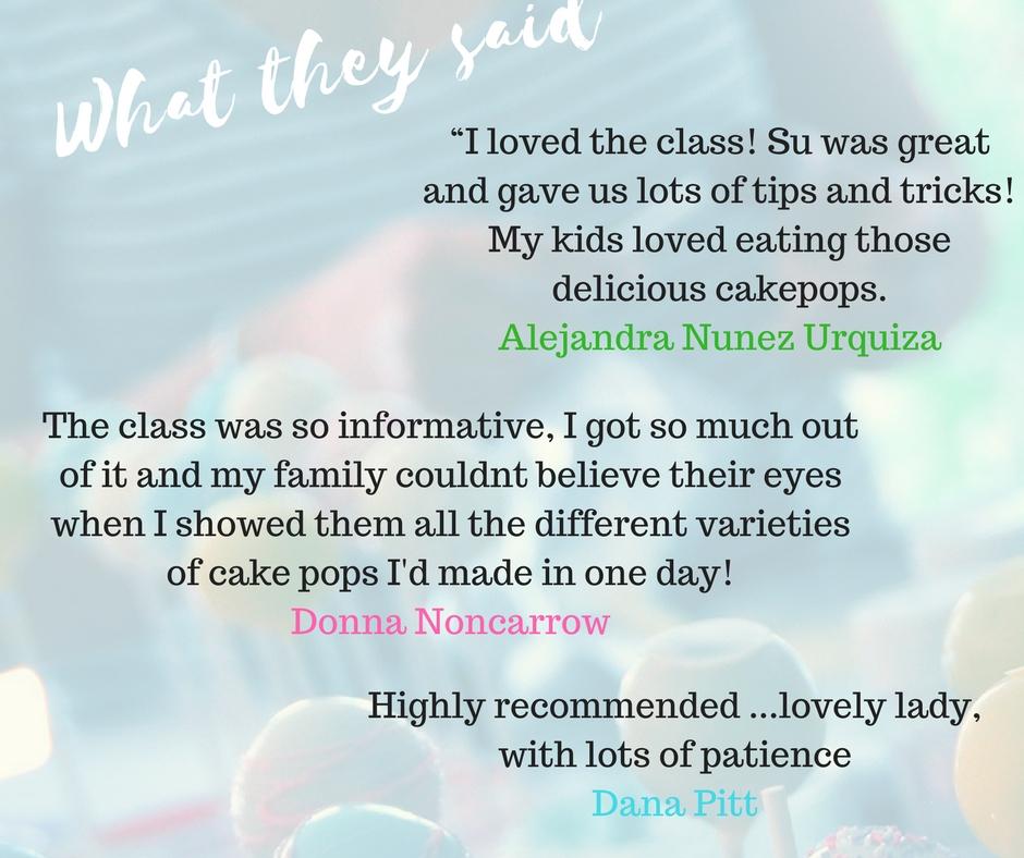 Cake pop class reviews