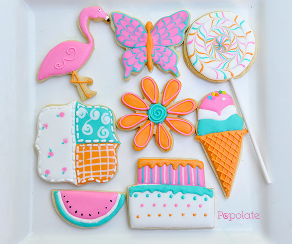 Iced biscuit decorating class